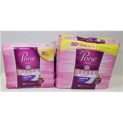 TWO PACKS OF POISE PADS
