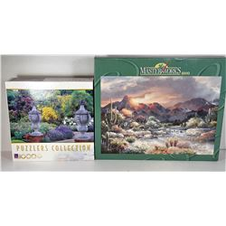 4)  LOT OF 2 FACTORY SEALED 1000 PIECE PUZZLES