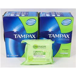 BAG OF TAMPAX TAMPONS