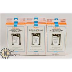 3 PACK OF SALLY HANSEN DIAMOND STRENGTH BASE &