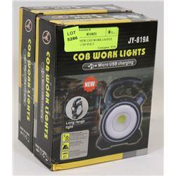 LOT OF 2 NEW LED WORK LIGHTS INCLUDES 110 VOLT