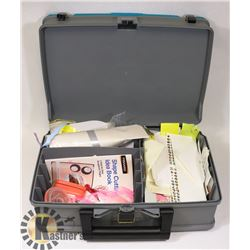 LARGE TRAVEL CASE FILLED WITH SUPPLIES
