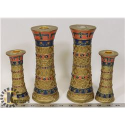 SET OF 4 TEMPLE CANDLE STICKS