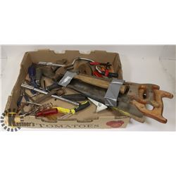ESTATE LOT OF ASSORTED HAND TOOLS.