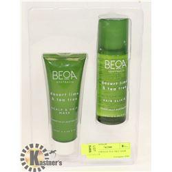 BEOA AUSTRALIA TEA TREE HAIR PRODUCTS.