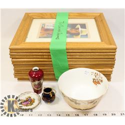 PICTURE FRAMES AND GLASSWARE