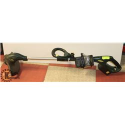 18 VOLT YARDWORKS GRASS WHIP WITH BATTERY AND
