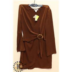 BROWN DRESS SIZE 4.