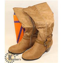 JJ'S FOOTWARE BOOTS KHAKI SZ 8.5