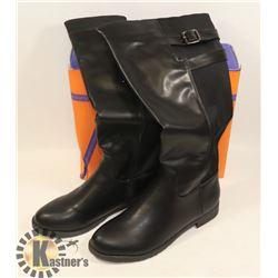 JJ'S FOOTWARE BOOTS BLACK SZ 7.5 LADIES