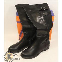 JJ'S FOOTWARE BOOTS BLACK SZ 8.5 LADIES