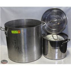 40QT THERMALLOY ALUMINUM STOCK POT & S/S POT W/