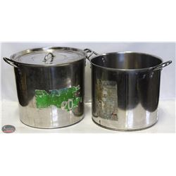 GROUP OF 2 STAINLESS STEEL 20QT STOCK POTS