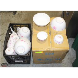 2 CASES OF FLORAL PATTERN MELAMINE DISHWARE
