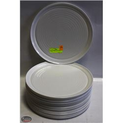 "LOT OF 19 PORCELAIN 12"" PIZZA PLATES"
