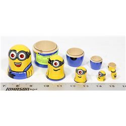 HANDPAINTED STACKING DOLLS WOOD MINIONS