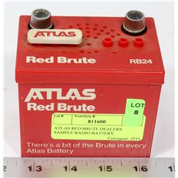ATLAS RED BRUTE DEALERS SAMPLE RADIO BATTERY