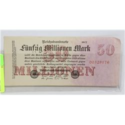 GERMAN BANKNOTE 50 MILLION MARK 1922.
