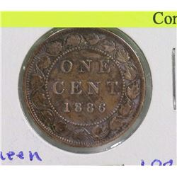 1886 CANADIAN LARGE PENNY