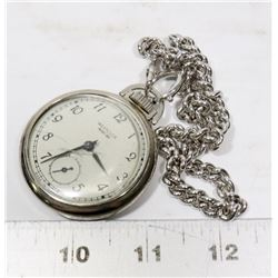 WESTCLOX POCKET BEN WATCH-CRACK ON GLASS
