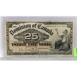 1900 CANADIAN SHINPLASTER