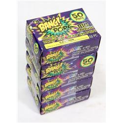 5 BOX'S OF BANG POPS! / 50 PER BOX / THROW EM OR