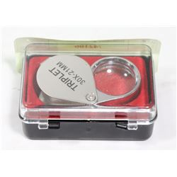 JEWELLERS MAGNIFIER IN CARRY CASE 30 POWER.