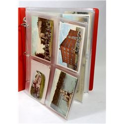 LARGE BOOK WITH 100 POSTCARDS, ANTIQUE