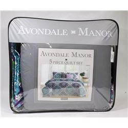 NEW AVONDALE MANOR 5 PC KING SIZE QUILT SET