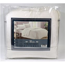 SUPERIOR SOFT SHERPA 3-PC KING SIZE BLANKET SET