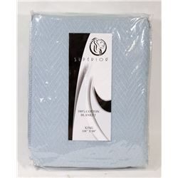 NEW SUPERIOR KING SIZE COTTON BLANKET