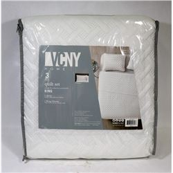 NEW VCNY HOME 3 PC KING SIZE QUILT SET