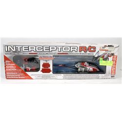 NEW INTERCEPTOR RC HELICOPTER WITH CONTROLLER.