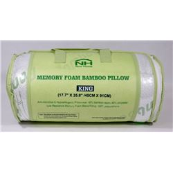 NEW KING SIZE MEMORY FOAM BAMBOO PILLOW
