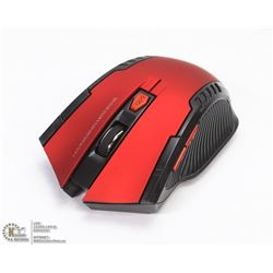 NEW RED WIRELESS OPTICAL MOUSE