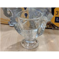 HEN GLASS EGG CUPS - LOT OF 6 (2 BOXES)