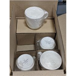 9OZ/265ML WHITE PORCELAIN COFFEE CUPS - LOT OF 24