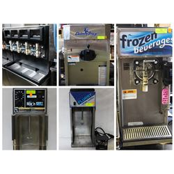 FEATURED LOTS: FROZEN BEVERAGE DISPENSERS / MIXERS