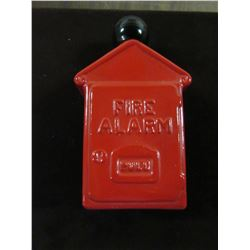 VINTAGE FIRE BOX DECANTER CONTAINING SPICY AFTERSHAVE