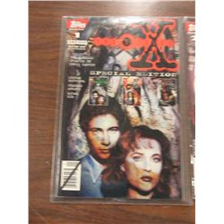 LOT OF SIX X-FILES TOPPS COMIC BOOKS