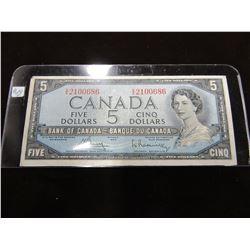 1954 MODIFIED HAIR DOO LEGAL TENDER CANADA $5 BILL