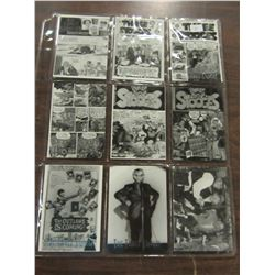 LOT OF 9 VINTAGE THREE STOOGES TRADING CARDS