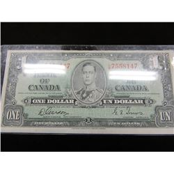 1937 KING GEORGE VI BANK OF CANADA CURRENCY BANK NOTE