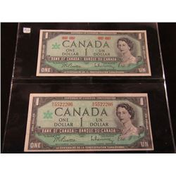 SET OF CANADA LEGAL TENDER 1967 CENTENNIAL DOLLARS