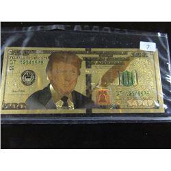 COLORIZED GOLD FOIL $100 US BANK NOTE