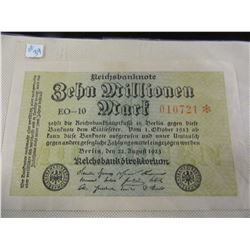1923 3 MILLION MARK GERMAN CURRENCY BANK NOTE
