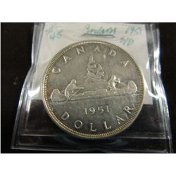 1951 KING GEORGE VI CANADA SILVER DOLLAR