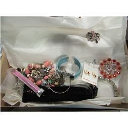 ESTATE - BOX OF MISC JEWELRY