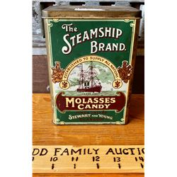 STEAMSHIP BRAND CANDY TIN
