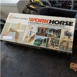 BLACK AND DECKER WORKHORSE AND 2 ADJUSTABLE PLATFORM BRACKETS